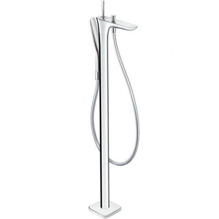 Фото сантехники Pura Vida Смеситель для отдельно стоящей ванны, белый/хром