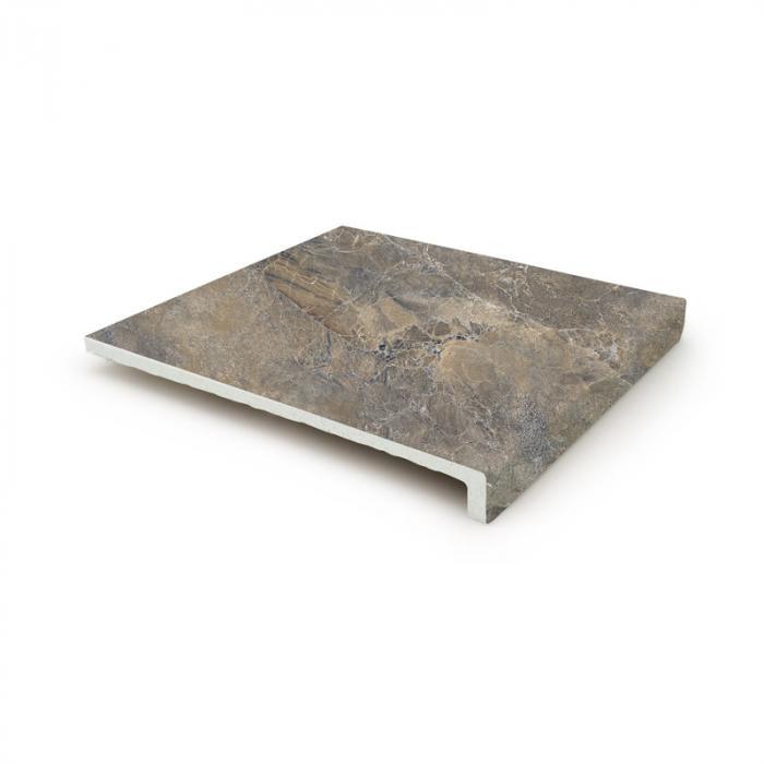 Текстура плитки Sea Rock Peldano Recto Cris Oscuro 31.6x33