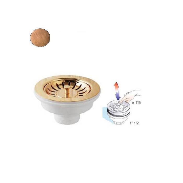 Фото сантехники Слив для кухонной мойки, медь
