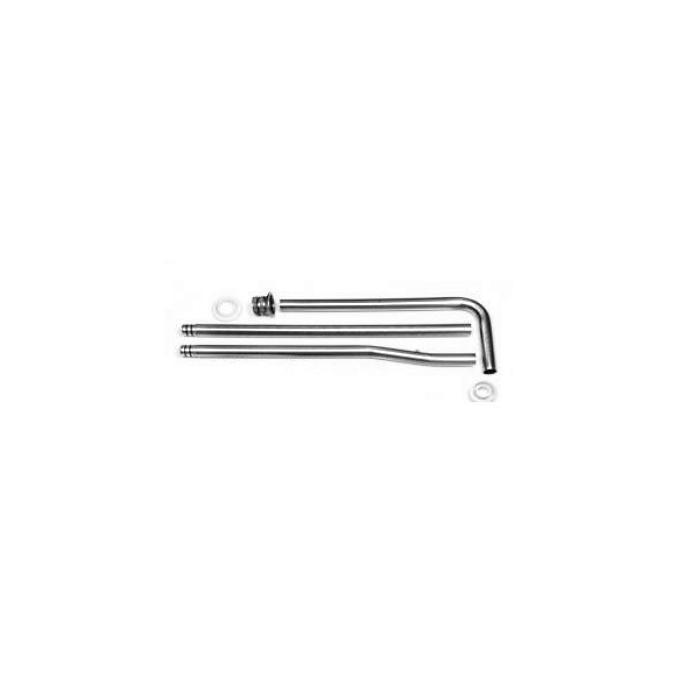 Фото сантехники Сливная труба для высокого бачка (комплект 3шт), цвет хром