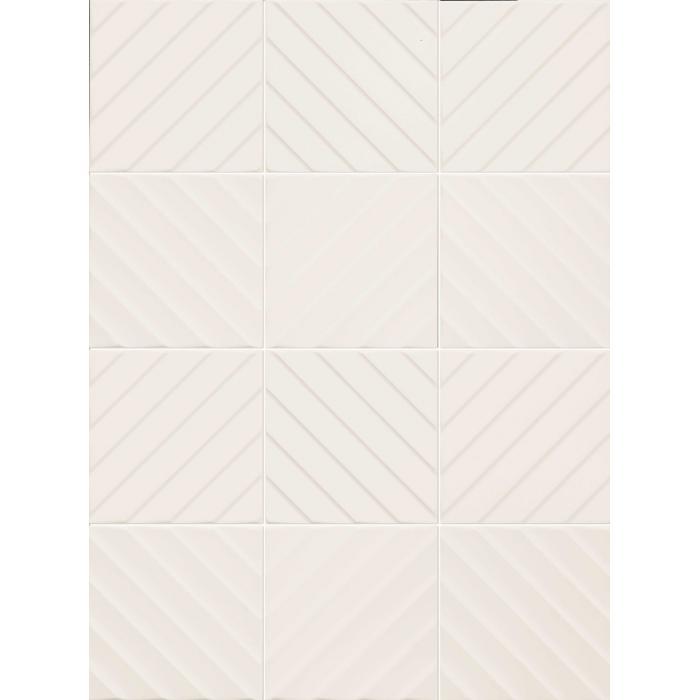 Текстура плитки 4D Diagonal White 20x20