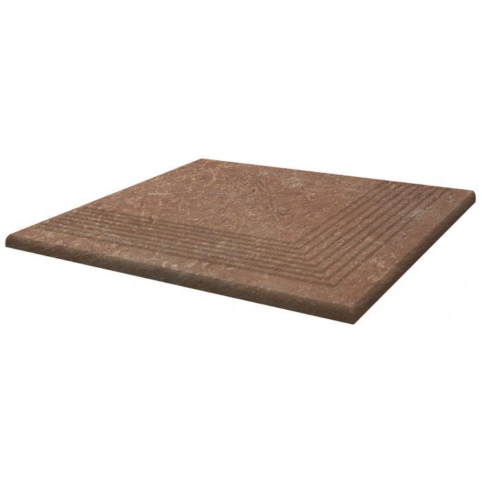 Текстура плитки Scandiano Rosso Stopnica Narozna 30x30