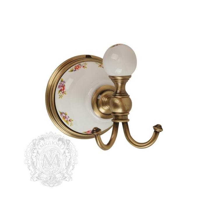Фото сантехники Provance Крючок, керамика с декором/бронза