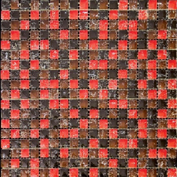Изображение Flowers Мозаика Стеклянная Глянцевая ICE-10 (DH-2389) 1,5х1,5