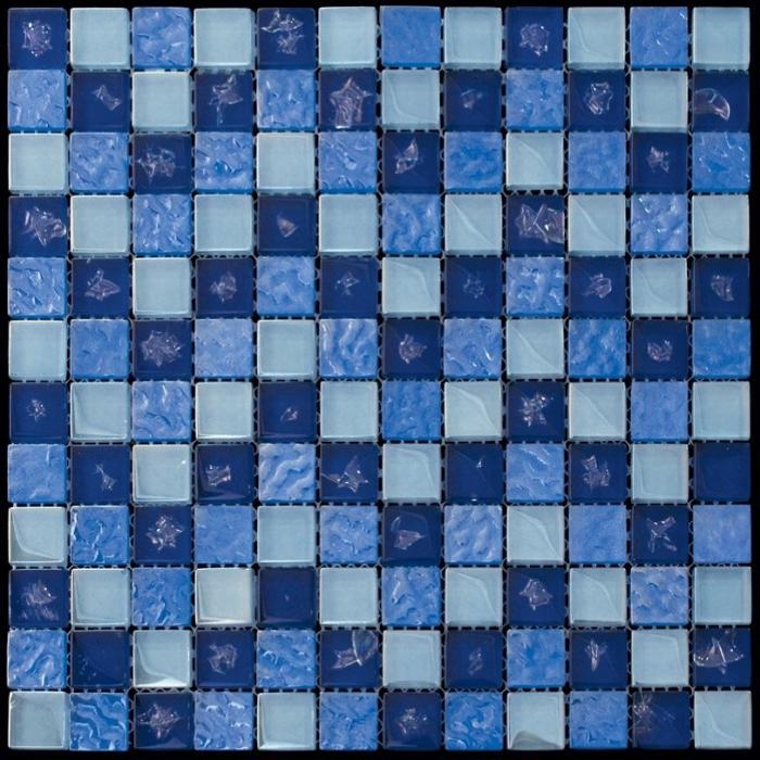 Изображение Flowers Стеклянная мозаика ICE-2303 (DH-0003; BSF-003) 2,3х2,3