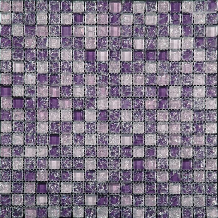 Изображение Ice Flowers Мозайка Стеклянная Глянцевая ICE-03 1,5х1,5
