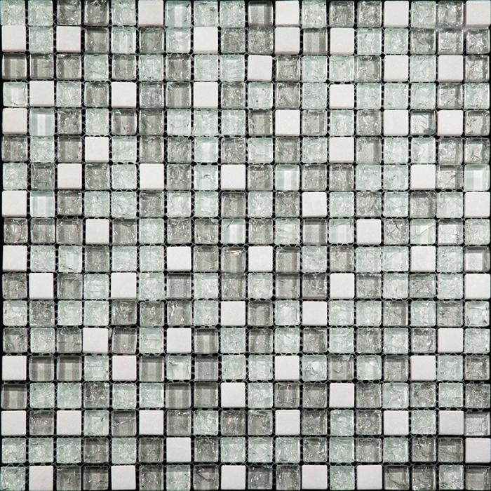 Изображение Ice Flowers Мозаика Стеклянная Глянцевая ICE-08 1,5х1,5