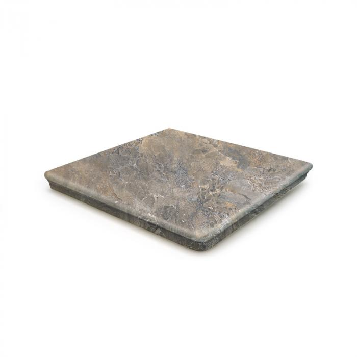 Текстура плитки Sea Rock Peldano Angular Florentino Gris Oscuro 33x33