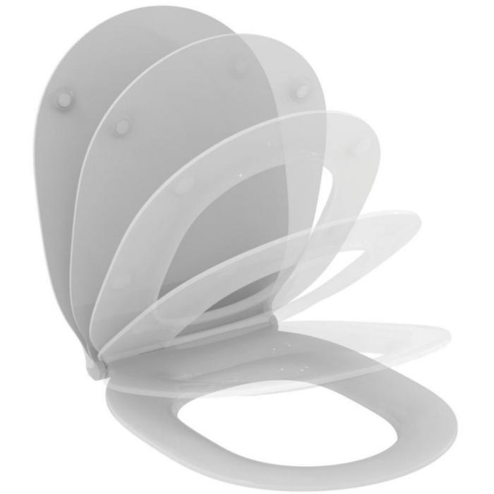 Фото сантехники Connect Air Тонкое сидение и крышка, с функцией плавного закрытия, дюропласт