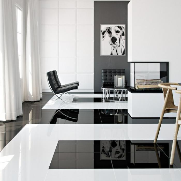 Интерьерные фото плитки из коллекции Black&White - 2