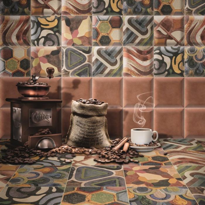 Интерьерные фото плитки из коллекции Bombato
