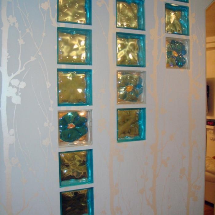 Интерьерные фото плитки из коллекции Стеклоблок Эксклюзивный Витражи
