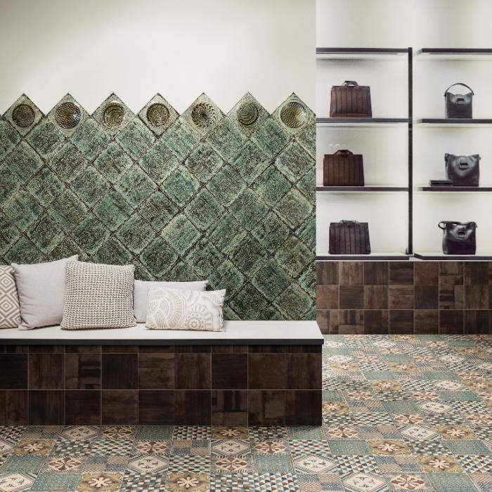 Интерьерные фото плитки из коллекции Artigiano