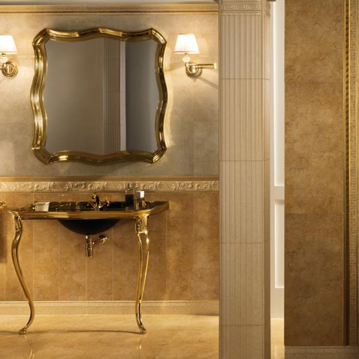 Интерьерные фото плитки из коллекции Palace Living Gold