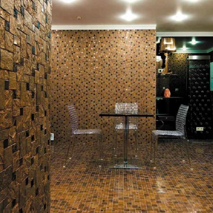 Интерьерные фото плитки из коллекции Mix Glass&Stone