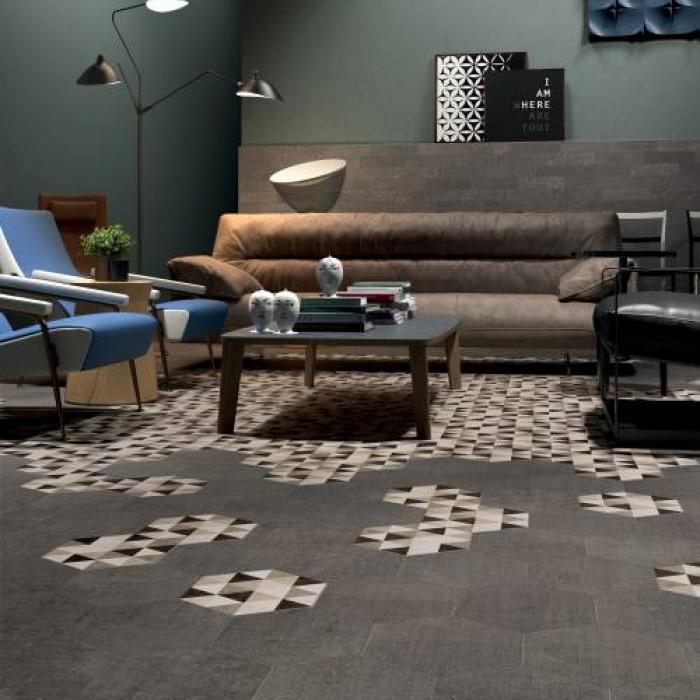 Интерьерные фото плитки из коллекции Textile - 4